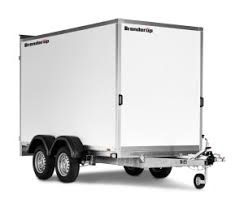 Brenderup 7300TB KONTENER rampa zamykany furgon 2000kg DMC