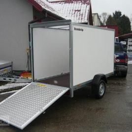 Brenderup 7260 KONTENER RAMPA zamykany furgon