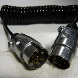 Przewód kabel złącze elektryczne przyczepy 2x wtyczka 7pin 12V